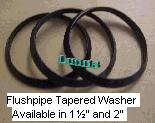 "Flushpipe Washer 1-1/2"" (pack or 2)"
