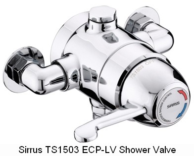 Sirrus Gummers TS1503ECP-LV Lever Thermostatic Shower Valve ...